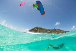 kitesurfing in Seychelles